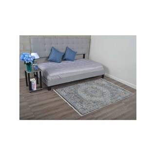 Crossweave Traditional Turkish Over Dyed Oriental Area Rug Medallion