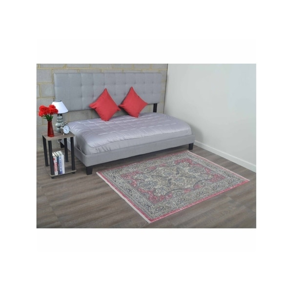 Oriental Traditional Medallion Turkish Over Dyed Crossweave Area Rug