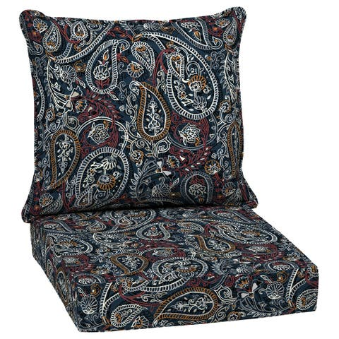 Prell Paisley Outdoor 24-inch Conversation Set Cushion by Havenside Home