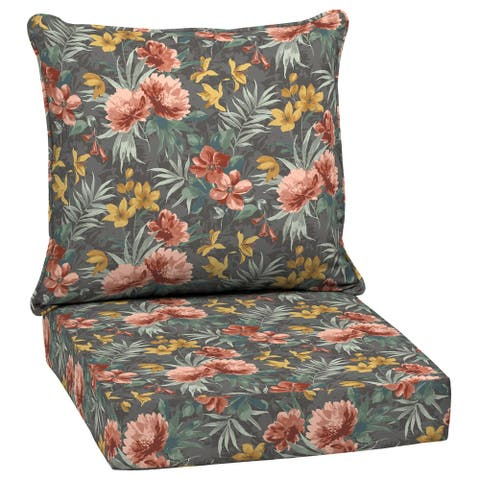 Arden Selections Phoebe Floral Outdoor 24 in. Conversation Set Cushion - 46.5 in L x 25 in W x 6.5 in H