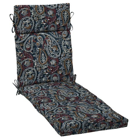 Arden Selections Palmira Paisley Outdoor Chaise Lounge Cushion - 72 in L x 21 in W x 4 in H