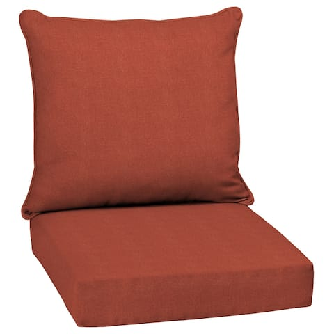 Arden Selections Sedona Woven Outdoor 24 in. Conversation Set Cushion - 46.5 in L x 25 in W x 6.5 in H