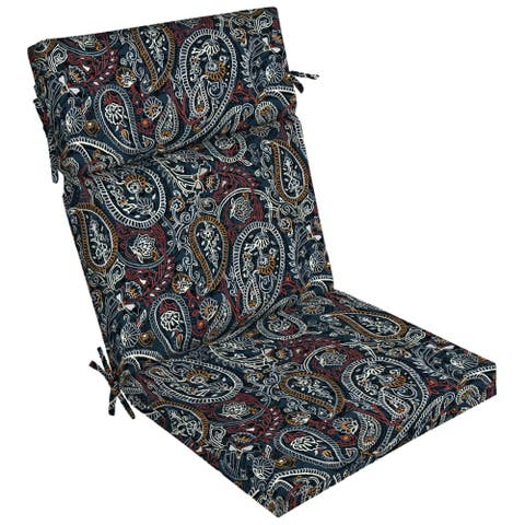 Arden Selections Palmira Paisley Outdoor Dining Chair Cushion - 44 in L x 21 in W x 4.5 in H
