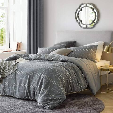 Conceptual Gray Textured Duvet Cover
