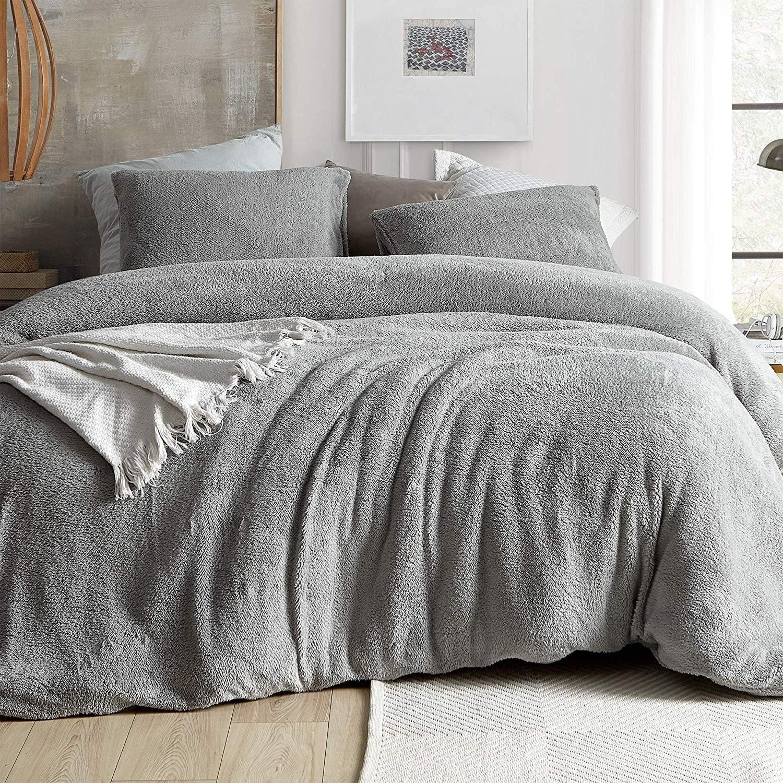 coma inducer duvet cover teddy bear silver gray