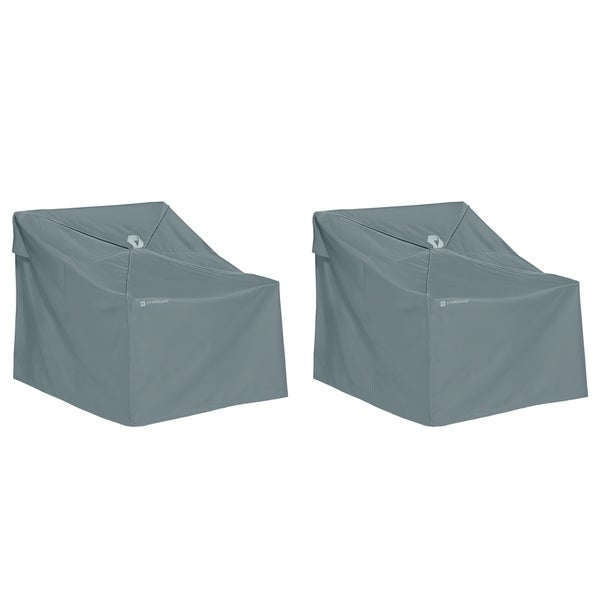 Classic Accessories Storigami Water-Resistant 36 Inch Easy Fold Lounge Chair Cover, 2 Pack, Monument Grey. Opens flyout.