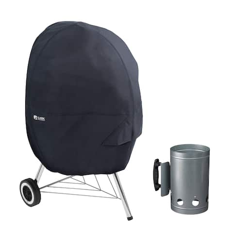 Classic Accessories® Kettle Grill Cover with Charcoal Chimney