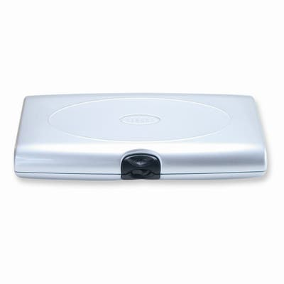 Silver-tone Multiple Compartments Smart Push Lock Jewelry Case