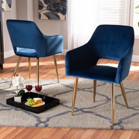Germaine Glam and Luxe Upholstered 2-Piece Dining Chair Set