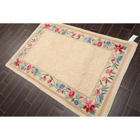 Hand Hooked Wool Persian Oriental Area Rug Traditional (4'x6') - 4' x 6'