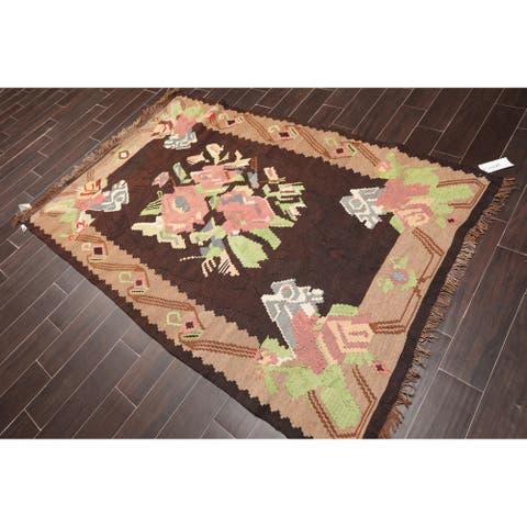 "Southwestern Turkish Kilim Hand Woven Wool Persian Flatweave Area Rug (5'x7'5"") - 5' x 7'5"""