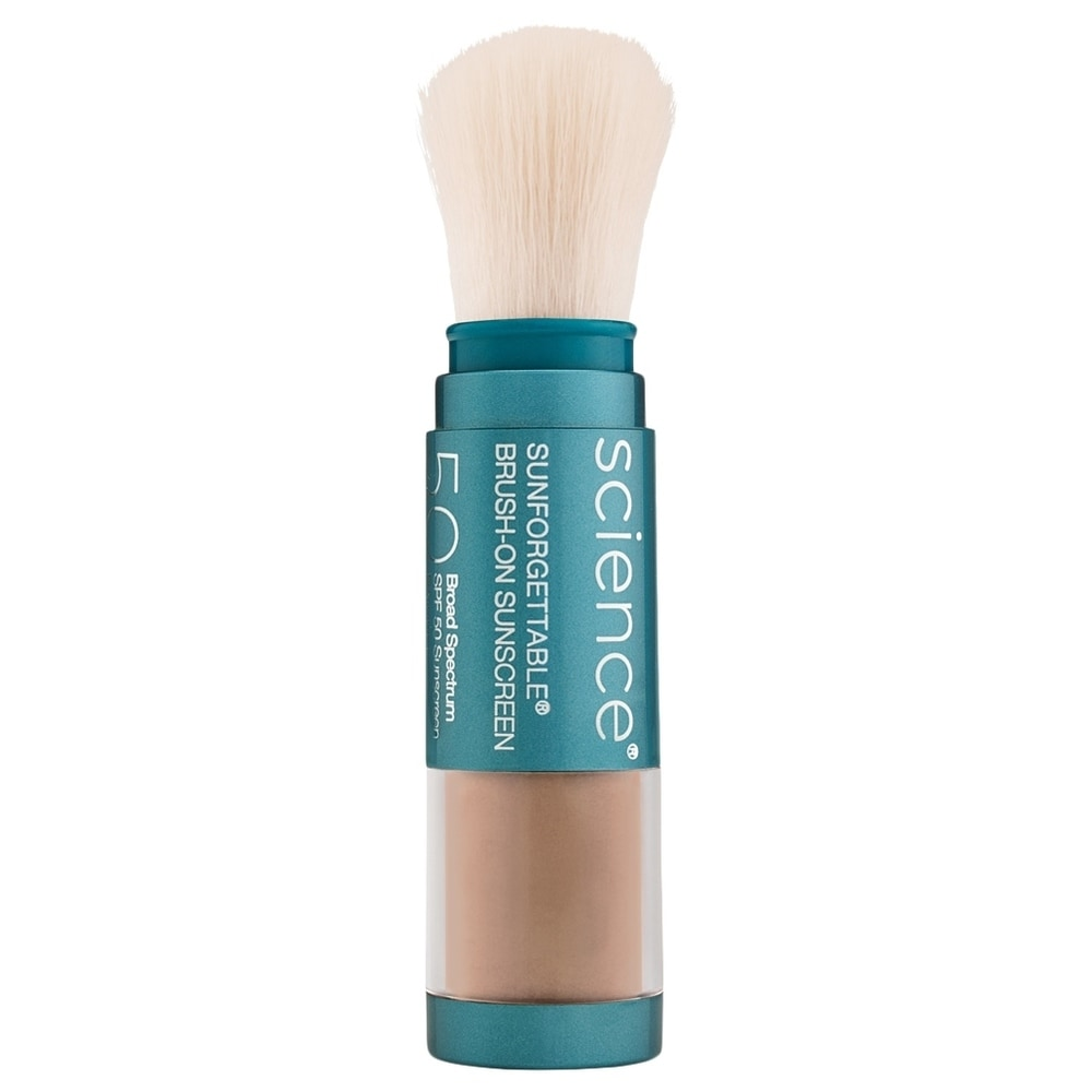 ColoreScience Sunforgettable Total Protection Brush-On Shield SPF 50 0.21 oz / 6 g Deep (Blue - Facial Sunscreen)