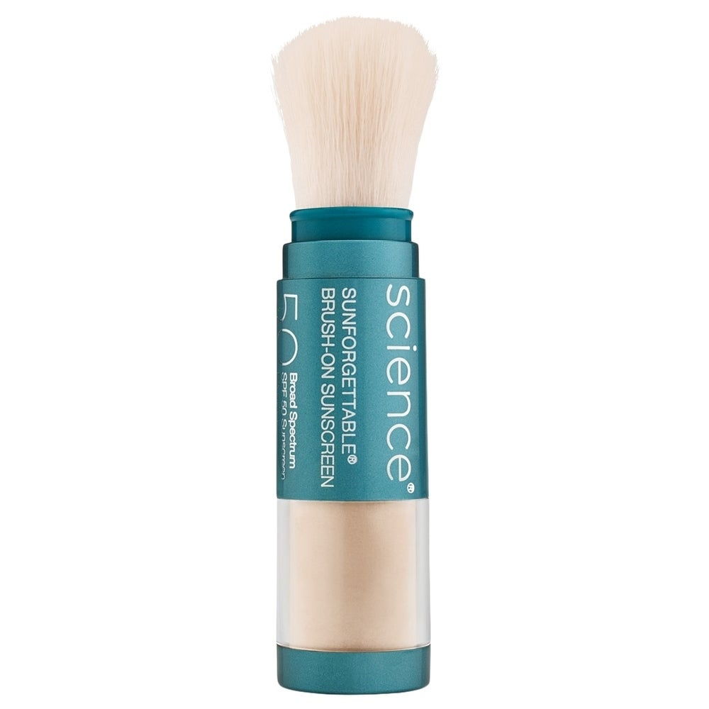 ColoreScience Sunforgettable Total Protection Brush-On Shield SPF 50 0.21 oz / 6 g Fair (Blue - Facial Sunscreen)