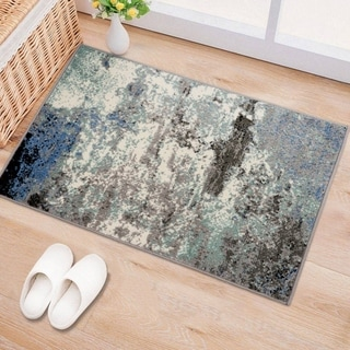 Distressed Modern Abstract Area Rug