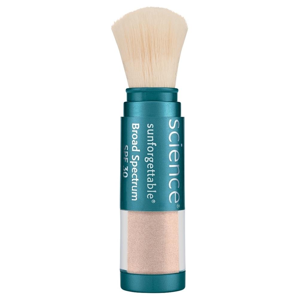 ColoreScience Sunforgettable Brush-On Sunscreen SPF30 0.21 oz / 6 g Medium Shimmer (Blue - Facial Sunscreen)