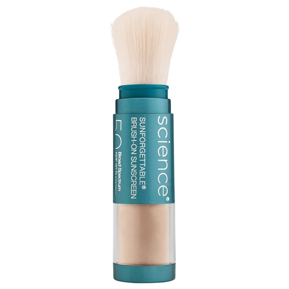 ColoreScience Sunforgettable Total Protection Brush-On Shield SPF 50 0.21 oz / 6 g Medium (Blue - Facial Sunscreen)