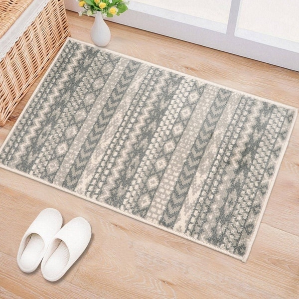 Boho Geometric Design Area Rug