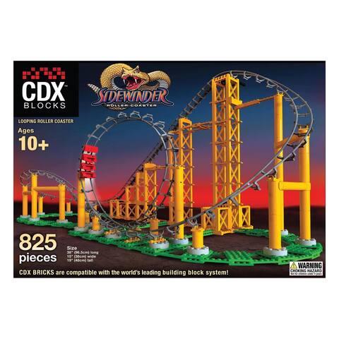 CDX Blocks Brick Construction Sidewinder Roller Coaster Building Set
