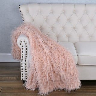 Silver Orchid Karenne Shaggy Faux-Fur Throw Blanket