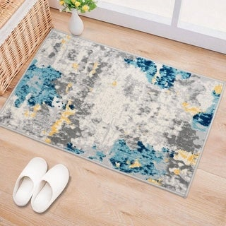 Porch & Den Tanoak Distressed Abstract Pattern Area Rug
