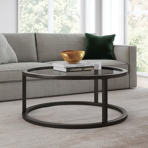 Silver Orchid Stossel Round Coffee Table