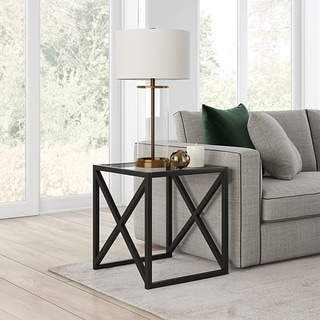 Silver Orchid Stifter Blackened Bronze Side Table