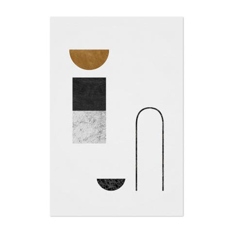 Noir Gallery Abstract Geometric Collage Unframed Art Print/Poster