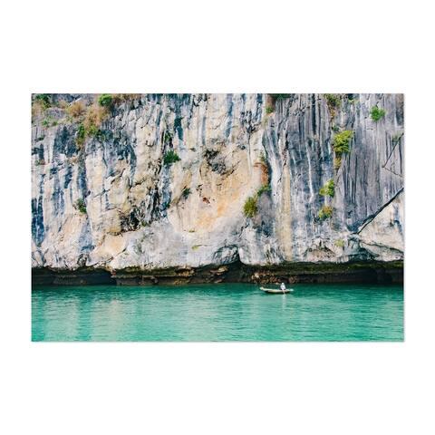 Noir Gallery Halong Bay Vietnam Beach Boats Photo Unframed Art Print/Poster