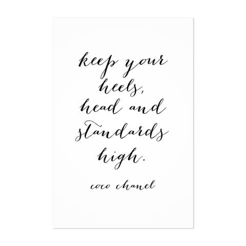 Noir Gallery Coco Chanel Quote Typography Unframed Art Print/Poster