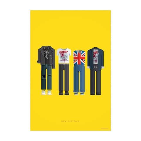 Noir Gallery Sex Pistols Music Illustration Unframed Art Print/Poster