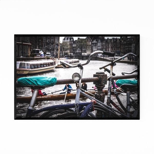 Noir Gallery Amsterdam Netherlands Bike Photo Framed Art Print