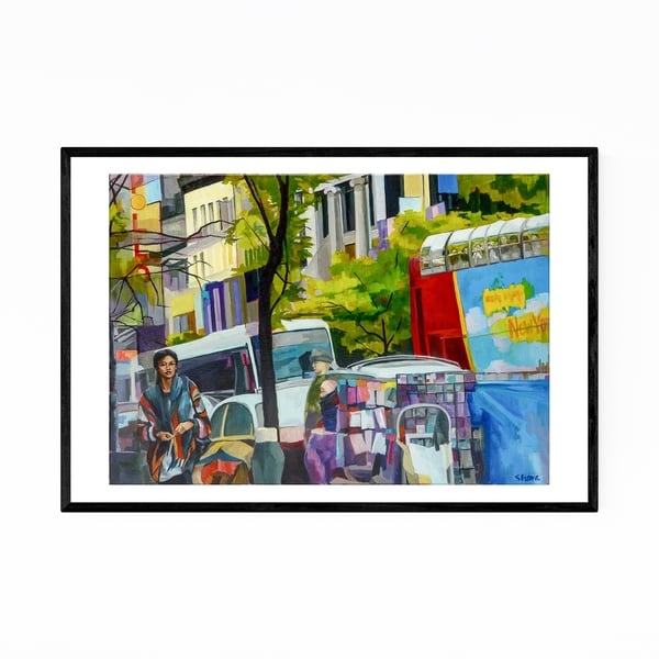 Noir Gallery Harlem New York Urban Painting Framed Art Print