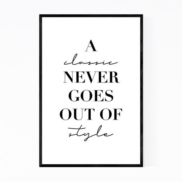 Noir Gallery Minimal Quote Typography Framed Art Print