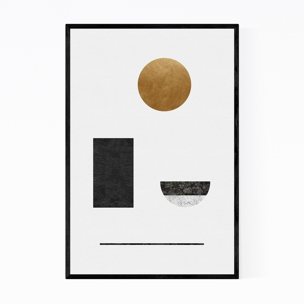 Noir Gallery Abstract Geometric Collage Framed Art Print