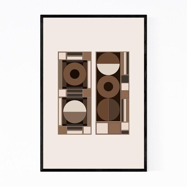 Noir Gallery Abstract Geometric Illustration Framed Art Print