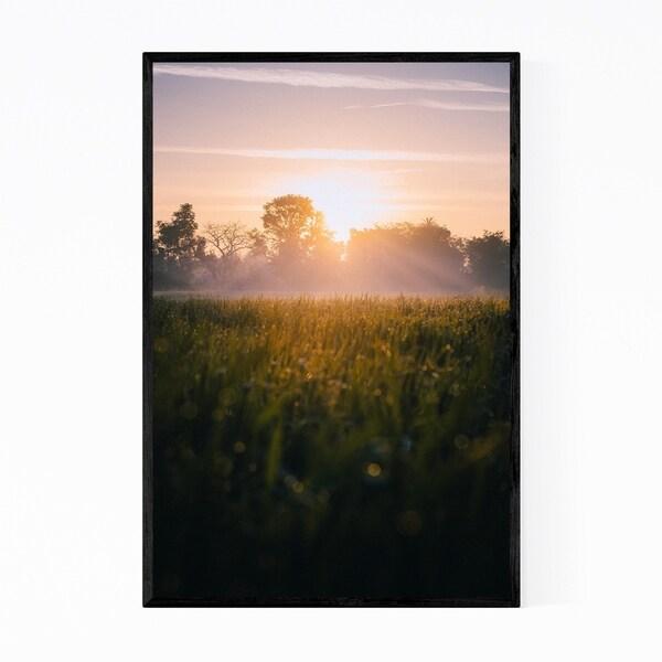 Noir Gallery Udaipur India Fog Nature Photo Framed Art Print