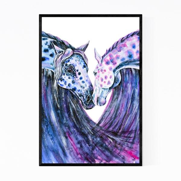 Noir Gallery Animal Horse Patterns Painting Framed Art Print