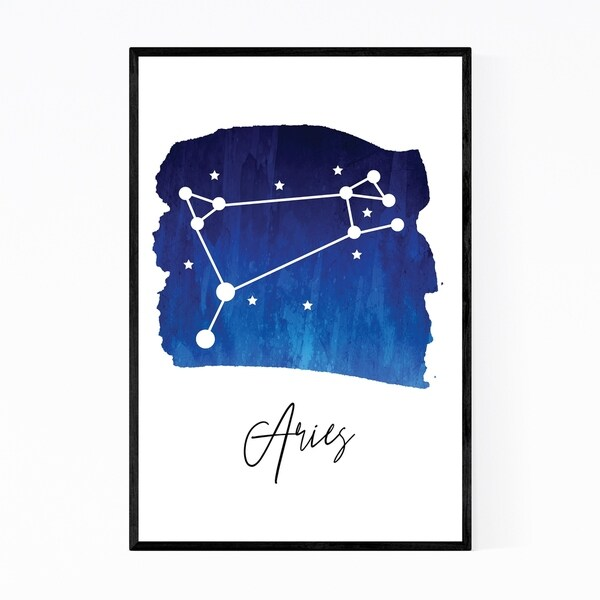 Noir Gallery Aries Zodiac Constellation Framed Art Print
