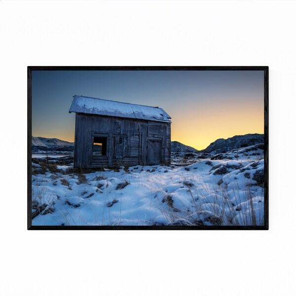 Noir Gallery Norway Winter Nature Photo Framed Art Print