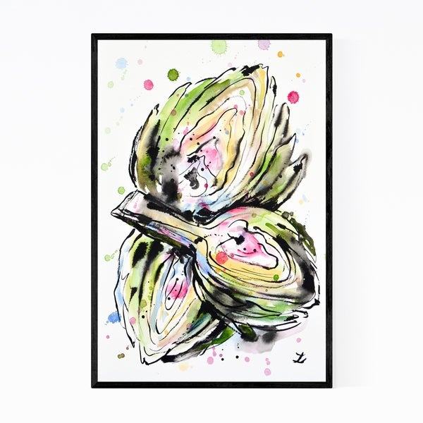 Noir Gallery Artichoke Kitchen Painting Framed Art Print