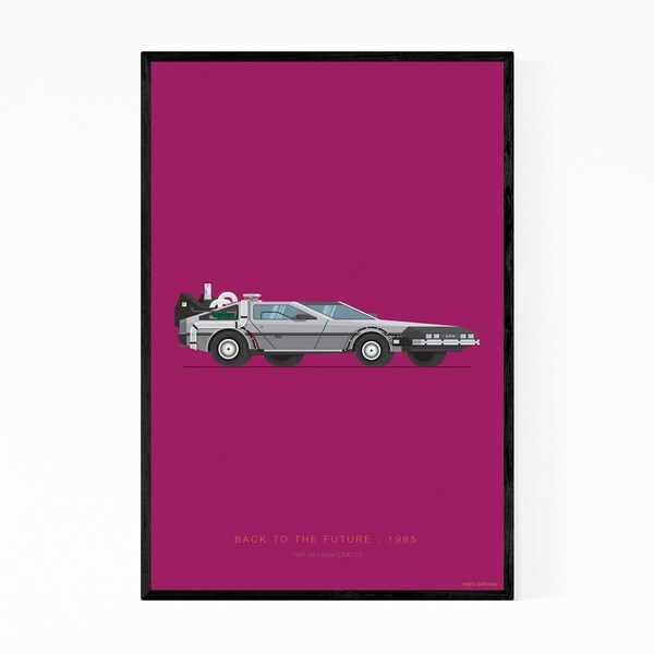 Noir Gallery Back to The Future Illustration Framed Art Print