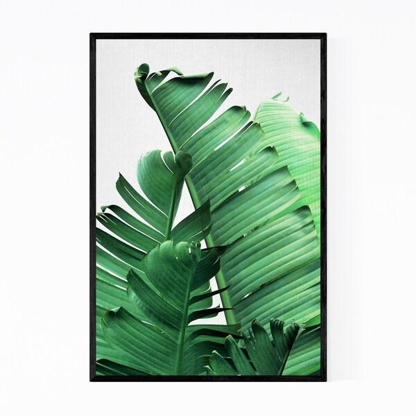 Noir Gallery Banana Leaves Botanical Framed Art Print