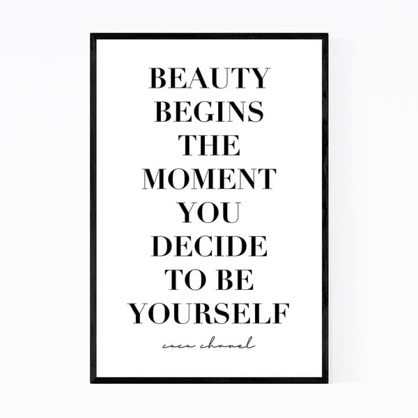 Noir Gallery Coco Chanel Fashion Quote Typography Framed Art Print