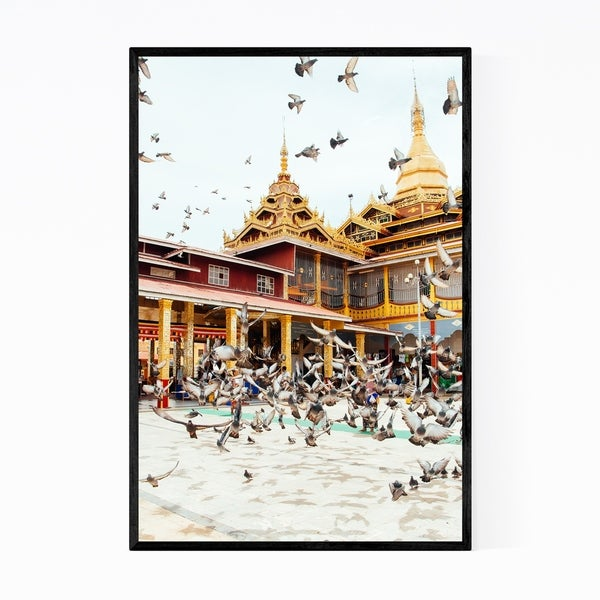 Noir Gallery Bagan Myanmar Architecture Photo Framed Art Print