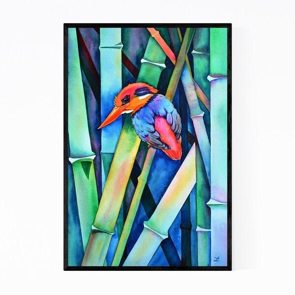 Noir Gallery Animal Birds Feathers Fish Painting Framed Art Print