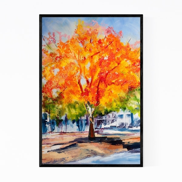 Noir Gallery Autumn Nature Painting Framed Art Print
