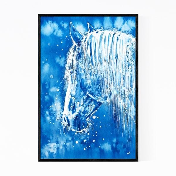 Noir Gallery Animal Horse Painting Framed Art Print
