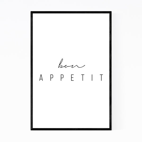 Noir Gallery Kitchen Minimal Typography Framed Art Print