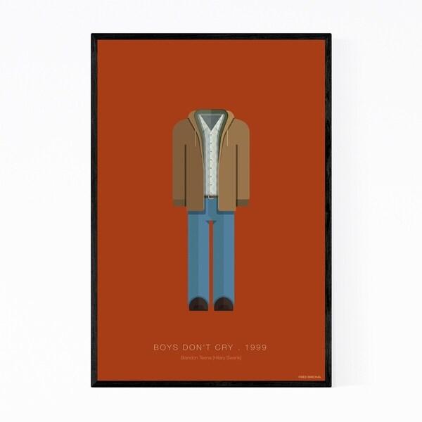 Noir Gallery Boys Don't Cry Movie TV Illustration Framed Art Print