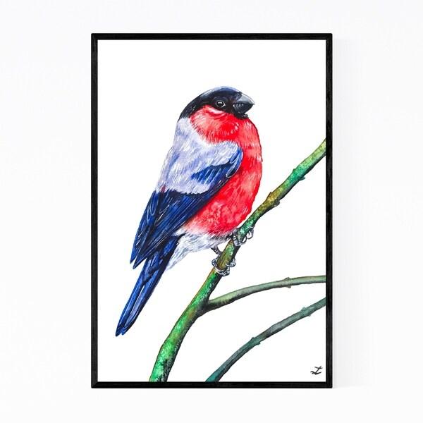 Noir Gallery Animal Birds Winter Painting Framed Art Print
